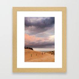layered sunset Framed Art Print