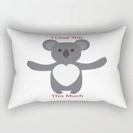 Koala Bear I Love You This Much Rectangular Pillow