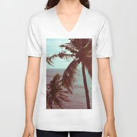 sunshine V-neck T-shirts featuring sunshine by Farkas B. Szabina