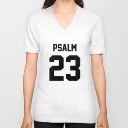 Psalm 23 - A Psalm of David Unisex V-Neck
