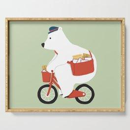 Polar bear postal express Serving Tray