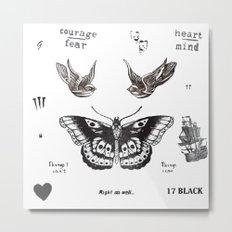 Tattoo à la Harry Metal Print