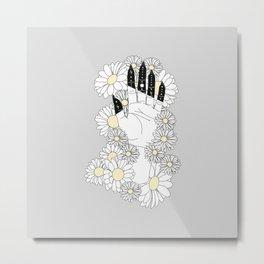 Daisy - Floral Hand Illustration Metal Print