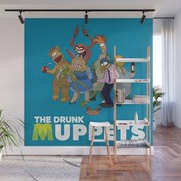 Drunk Muppets Cartoon Parody Wall Mural