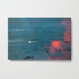 Nightlapse Iceland Metal Print