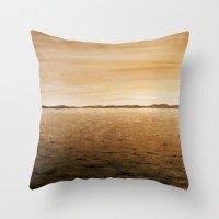 desert Throw Pillows featuring Desert by AhaC