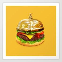 Burger Calling Art Print