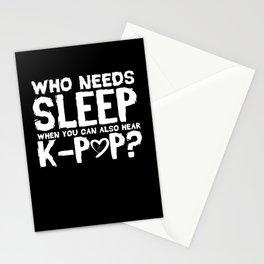 k-POP Music Who Needs Sleep Gift Stationery Cards