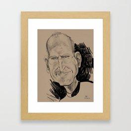 Steve Jobs (businessman, inventor) Framed Art Print