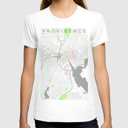 Providence Map Poster T-shirt