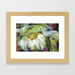 Flower Print Framed Art Print