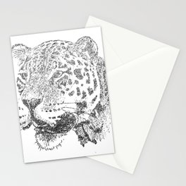 Silver Jaguar Stationery Cards