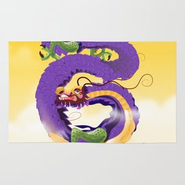 Harbin China Dragon travel poster Rug