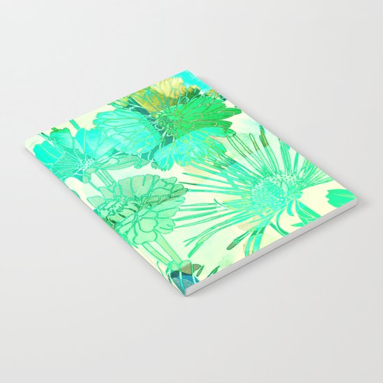 turquoise floral Notebook