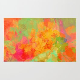 Flowers' colours Rug