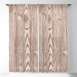 c13D Woodgrain Sheer Curtain