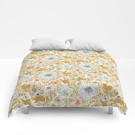 GROOVY PARADISE Golden Hibiscus Floral Comforters