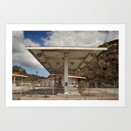 California Gas Station 2 Art Print
