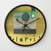 polaroid Wall Clocks featuring Polaroid by lotsofart