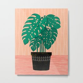 Cheese Plant - Trendy Hipster art for dorm decor, home decor, ferns, foliage, plants Metal Print