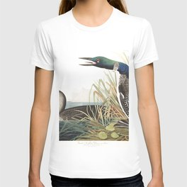 Great norther diver or loon, Birds of America, Audubon Plate 306 T-shirt