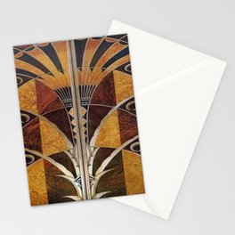 Art nouveau,Original wood work, elevator door, NYC Building Stationery Cards