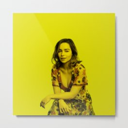 Emilia Clarke - Celebrity (Florescent Color Technique) Metal Print