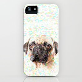 Pointillistic Pug iPhone Case