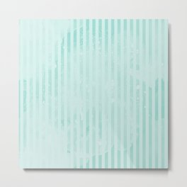 Degrade Mint Vertical Lines Metal Print