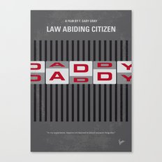 No738 My Law Abiding Citizen minimal movie poster Canvas Print