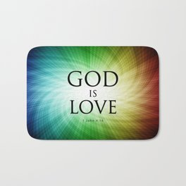 God is Love - Bible Lock Screens Bath Mat