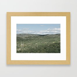 Wild power Framed Art Print