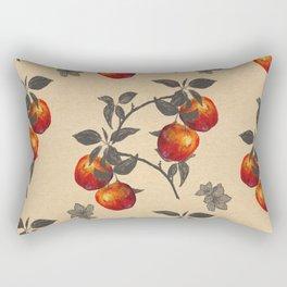 apple orchard watercolor pattern Rectangular Pillow