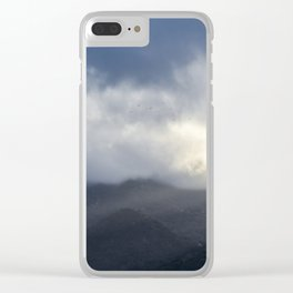 Light Streaming over mountains Clear iPhone Case