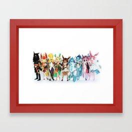 Eeveelution Dolls Framed Art Print