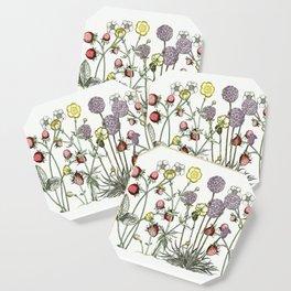 Medley of garden flowers Coaster
