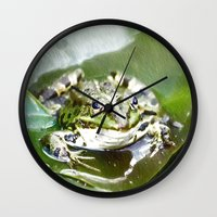 frog Wall Clocks featuring frog by Karl-Heinz Lüpke