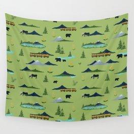 Alaska - Green Wall Tapestry