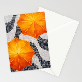 Rain in Copocabana Stationery Cards