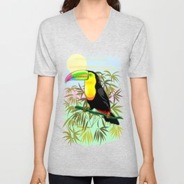 Toucan Wild Bird from Amazon Rainforest Unisex V-Neck