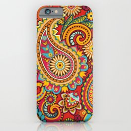 Floral pattern in spring iPhone Case