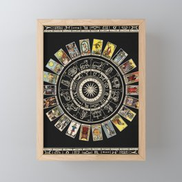 The Major Arcana & The Wheel of the Zodiac Framed Mini Art Print