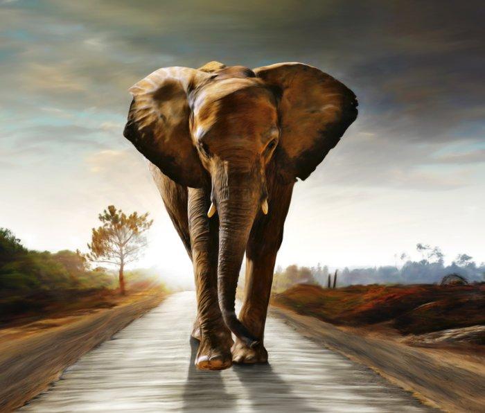 The Elephant Metal Travel Mug