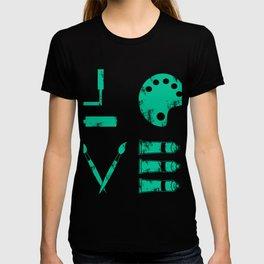 Artist Painter Art Teacher Designer Love Art Tools Gift T-shirt