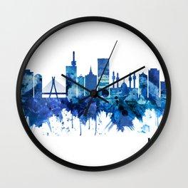 Lagos Nigeria Skyline Blue Wall Clock
