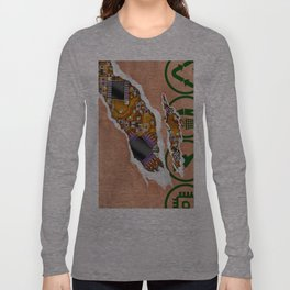 Ripped Paper Bag Circuit Board Long Sleeve T-shirt