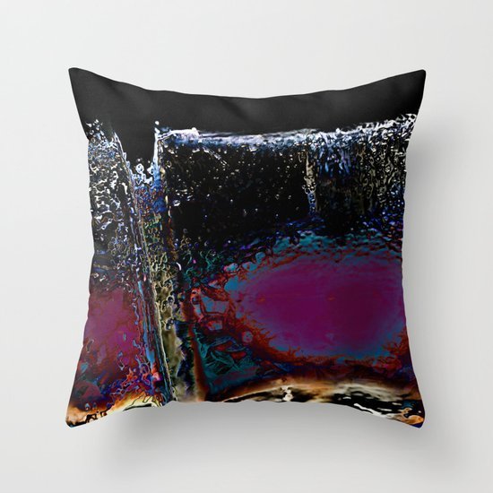Wall of Night Throw Pillow