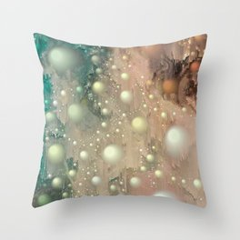 Pearl Glitch Art Throw Pillow