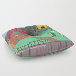 Afternoon at the Medieval Age Floor Pillow