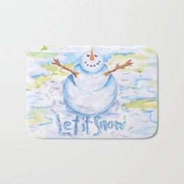 Let it Snow! Snowman Bath Mat
